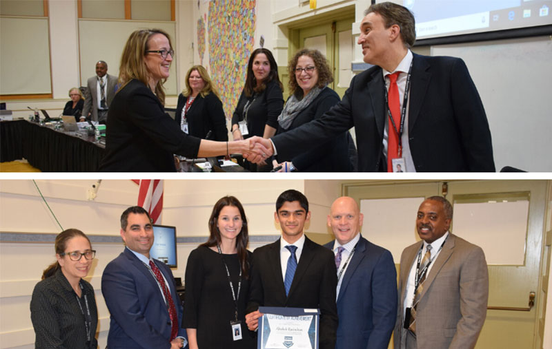 New Administrator, Student Scholar Recognized by BOE